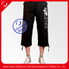 Custom ladies printed embroidered jogger shorts pants trousers
