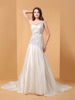 Ball Gown Simply Sublime Floor-length One Shoulder Lace Wedding Dress P056