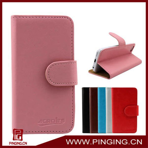 Wholesale High <strong>Quality</strong> Stand Wallet Flip Leather Case for LG Optimus <strong>L1</strong> II E410