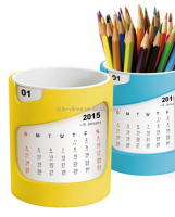 With beautiful pen calendar and plastic pen holder