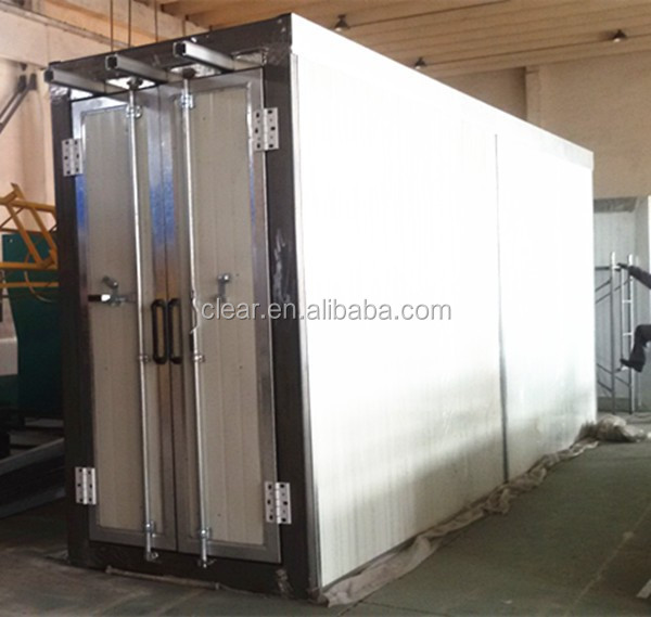 compact powder coating plant/baking oven