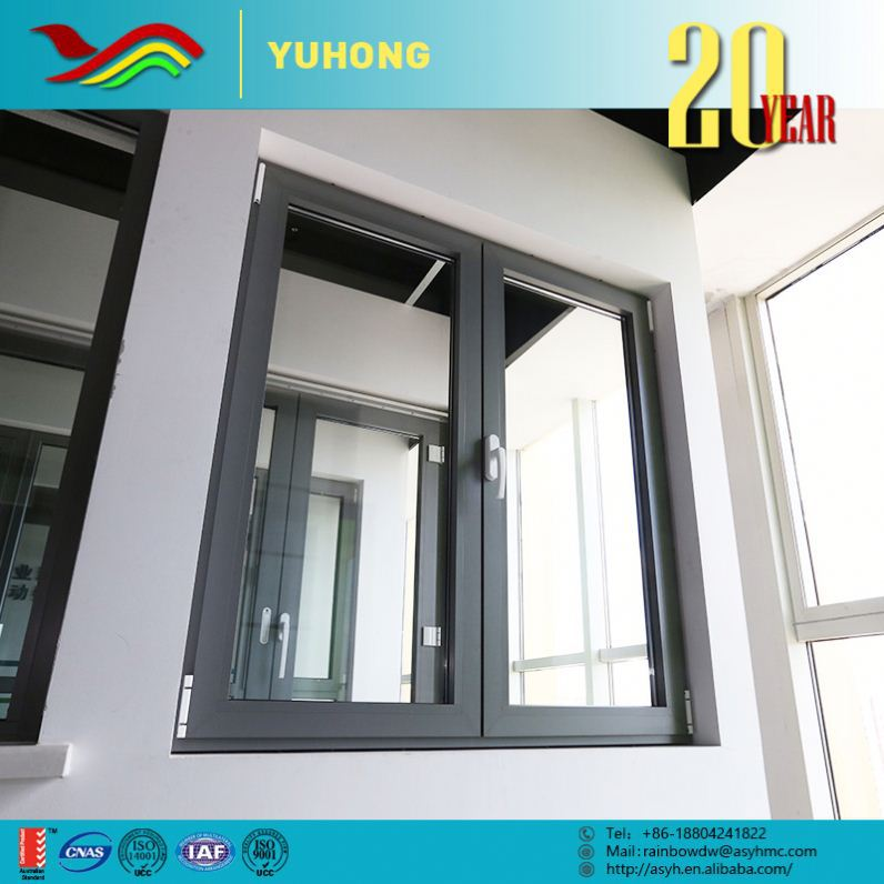 Metal Custom Low-Cost Ultra Precision 3 panel triple pvc casement window