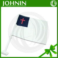 Sublimation printed 110g knitting fabric Christian Car flag