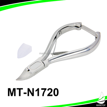 cuticle nippers Brushed Stainless Steel, Handle Lock