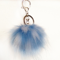 colorful fur ball pendant wholesale pompon pendant for handbag & keychain