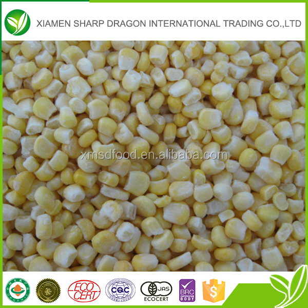 Wholesale frozen healthy organic sweet corn grain with low price