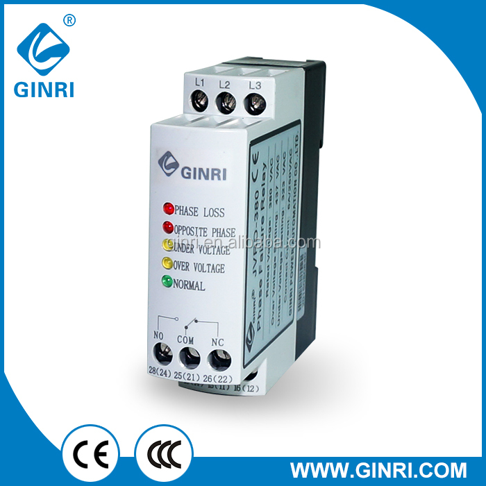 GINRI JVRD-380 Three phase reversal relay/phase loss relay/voltage monitor