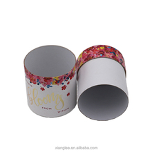 Recycled colorful printing cardboard gift packaging cosmetics cylinder box