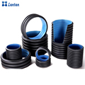 DN225m hdpe double wall corrugated pipe price for drainage and sewage