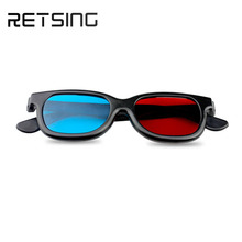 3D glasses/Red Blue Cyan 3D glasses Anaglyph vision Plastic 3D glasses hot gifts 3D movie glass