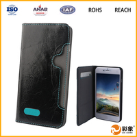 New arrival dust prevention OEM & ODM leather flip waterproof case for huawei ascend mate 7
