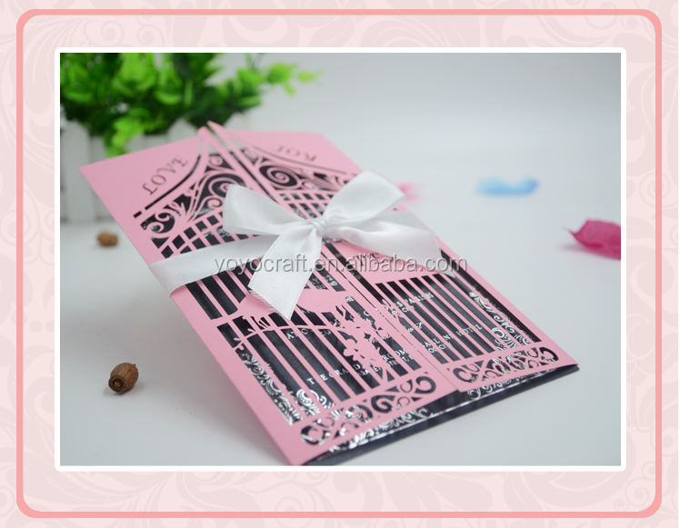 2017 hot design laser cut wedding birthday invitation card nepali marriage invitation card
