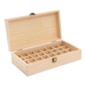 Unfinished natural color wooden essential storage box for sale