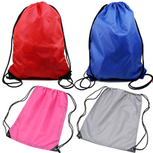 Girls boys travel drawstring backpack folding string shopping bags