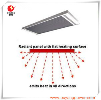 Ceiling mounted infrared electrical heater