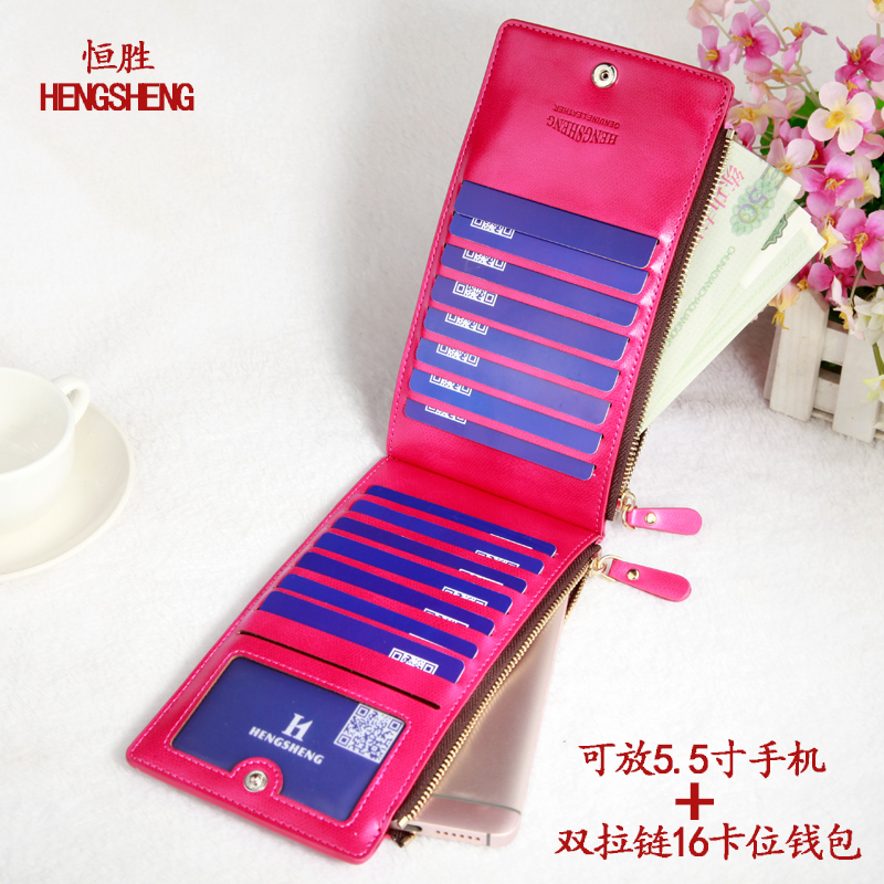 Foreign trade speed sell through wholesale oil wax pickup bag lady more screens card holder wallet female ultra-thin card sets o