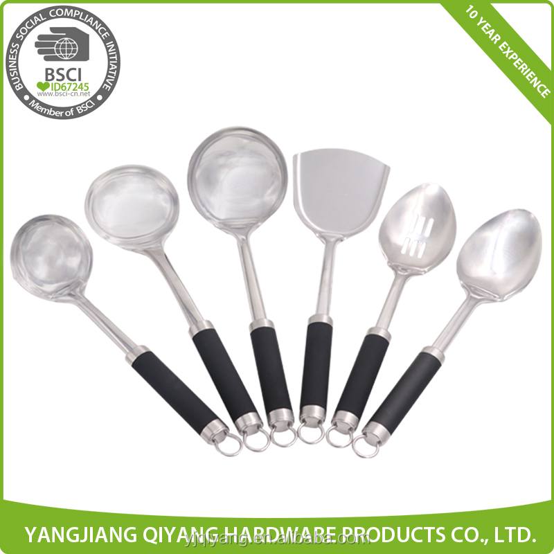 Plastic Handle Stainless Steel Kitchenware Sets Kitchen Utensils