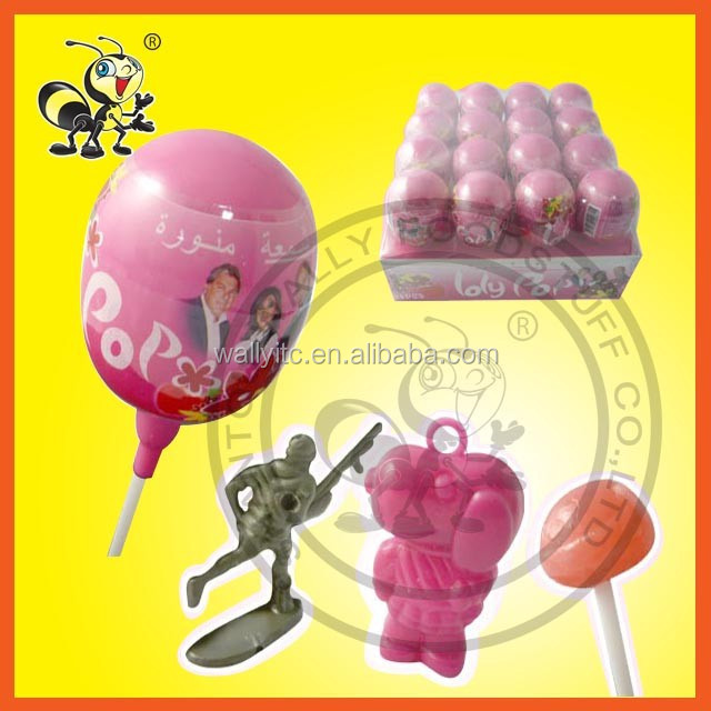 Toy and Lollipop Candy Plastic Surprise Egg Toy Candy