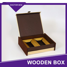 Factory Handmade Foldable Luxury Moon Cake Gift Wooden Box