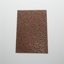 1lexan bayer uv coating Long Span low cost anti-drop decorative plastic wall pc embossed sheet