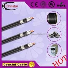 low loss RG11 coaxial cable 75ohms with 1.63CCS+7.11mmFPE quad Shielding for CATV and MATV system(CE RoHS)