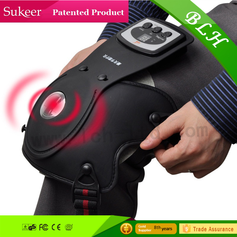 Electric vibration shoulder joint knee massager for elderly heating for knee pain relieve aches and easy to be carried portable