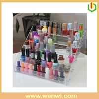 New product on china market 6 tier custom clear acrylic cosmetic makeup organizer