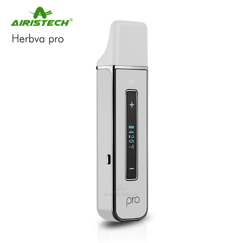 Best 2017 Portable Airistech HERBVA Manufacturer Wholesale Pen Digital Dry Herb Vapor Vaporizer With Ceracmic Heating Chamber