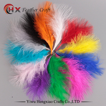 Factory Wholesale dyed colorful bulk turkey feathers for sale