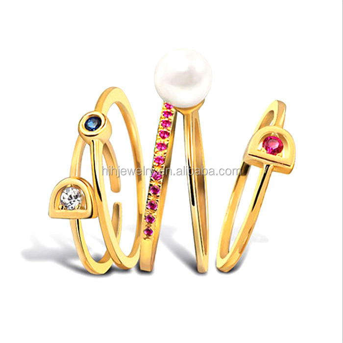 dubai gold jewelry set simple gold finger ring
