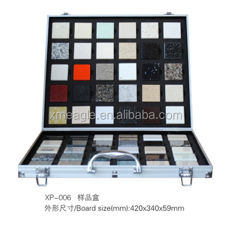 Ceramic tile display portable exhibition board stone sample books floor tile sample board/sample display case