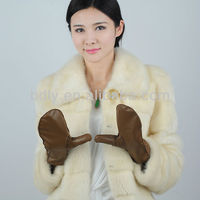 Sheepskin Ladies Autumn Winter Leather Mittens