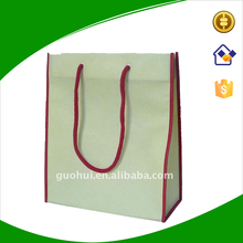 Plain non woven tote bag with rope hand, Cheap non woven fabric tote bag for gift