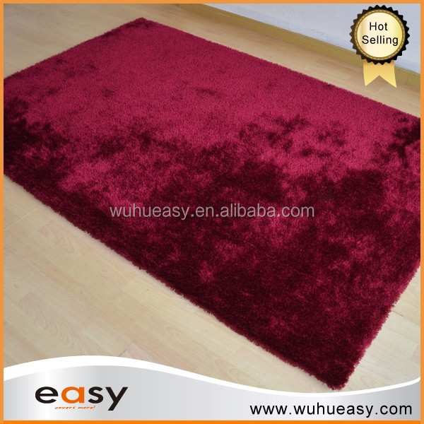 Long pile home interior art design red area shag rug
