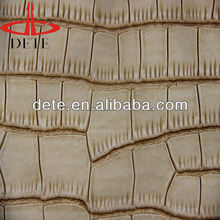 embossed faux crocodile pu leather for bag sofa cover upholstery leather