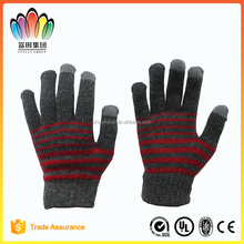 FT FASHION Winter Stripe Knitted Glove for touch screen