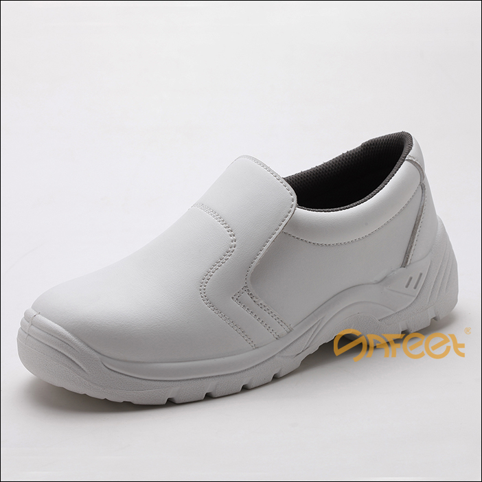 Anti-static shoes white esd cleanroom white safety boots and white leather hospital shoes and food industry shoes SA-6121