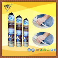 750ml expanding spray PU foam sealant/poyurethane silcone sealant