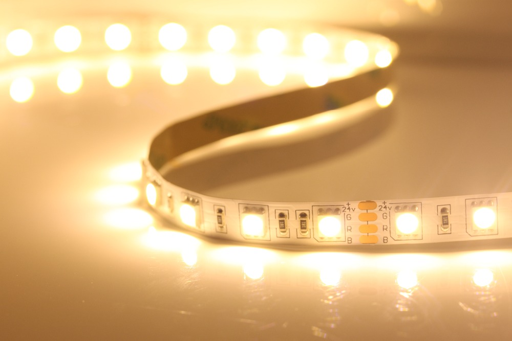 <strong>RGB</strong> color DC24V LED strip 5050 SMD flexible light 60LED/m,5m 300LED,non-waterproof;IP33
