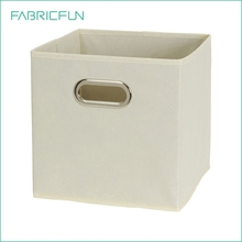 Nonwoven Cardboard Storage Boxes Foldable Collapsible Fabric Drawer with Grommet Handles