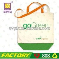 2014 New Product Large Dual-Handle Long Handle Natural Organic Grocery Cotton Canvas Tote Bag