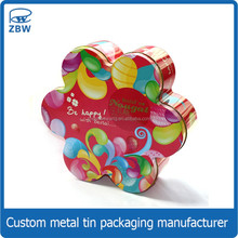 Flower shape Easter chocolate candy tin can/box for food packaging gift cup tin