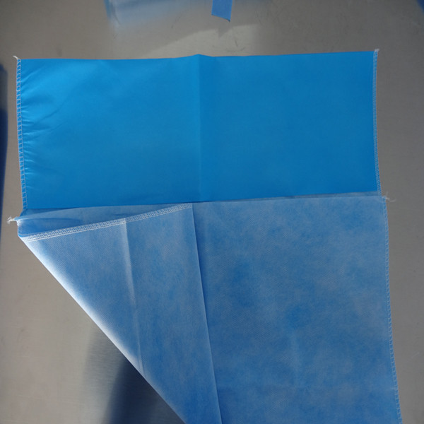 Disposable&waterproof&comportable blue/green PE+PP nonwoven Pillowslip for hotel/house/domestic use