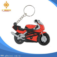 customized soft pvc red motorcycle shaped key chain