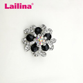 Silver Plated Rhinestones Design Big Metal Flower Brooch Pin in Zinc Alloy Jewelry