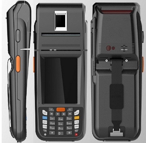 Handheld data collector PDA with thermal printer fingerprint NFC reader