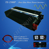 2500W DC to AC pure sine wave solar power inverter, converter DC 12V 24V to AC 120V 220V