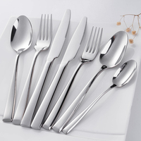 Customized Logos stainless steel cutlery set 72pcs, Family Use table knife fork spoon, For 6 People cutlery kitchenware