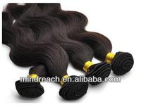 16inch natural color body wave virgin brazilian hair extension