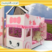 High Quality Little Star Bus Bunke Bed mini double bunk bed for kids8202